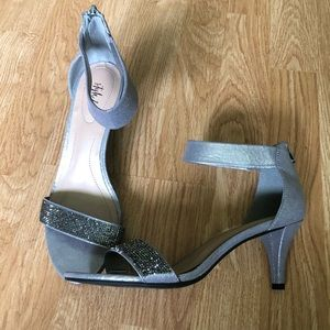 Style In Co. Dressy Sequins Ankle Strap Heels